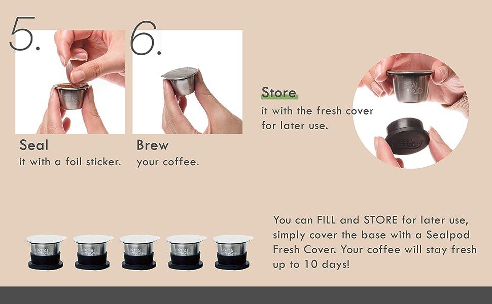 How to use Nespresso reusable pods