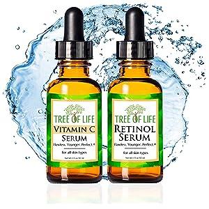Vitamin C Serum Retinol Moisturizer Cream for Face and Skin EBC