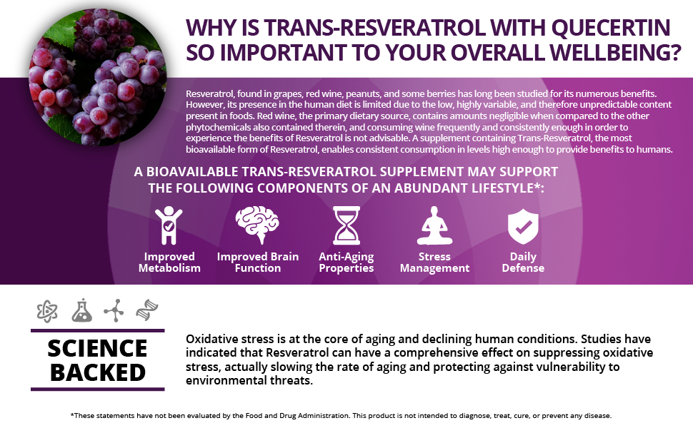 Amazon Com Organic Trans Resveratrol 1 500mg Enhanced With