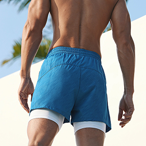 men 2 in 1  shorts