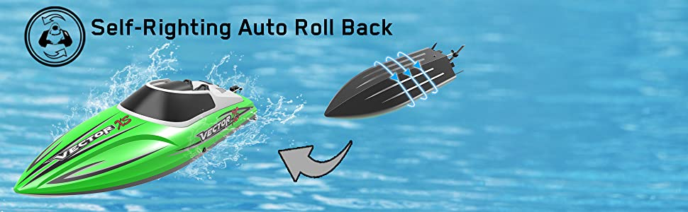 rc boat self-righting