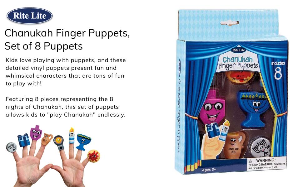 R/&L Chanukah Vinyl Finger Puppets