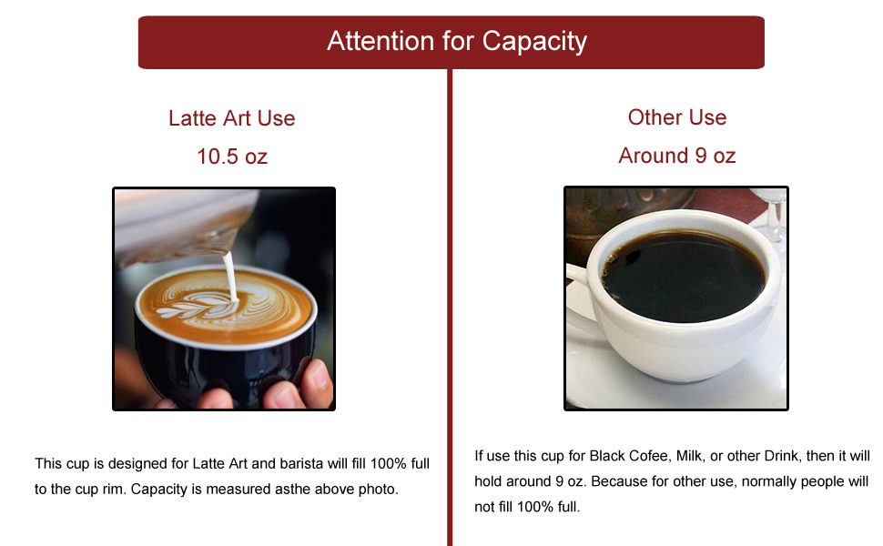Ceramic Latte Art Cup and Saucer for Latte amp; Cappuccino for Coffee Shop and Barista 10.5 oz