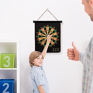 magnetic dart board for boys