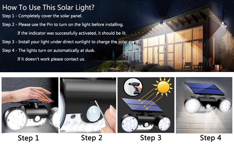 Topmante Solar Motion Sensor Lights Outdoor Lighting
