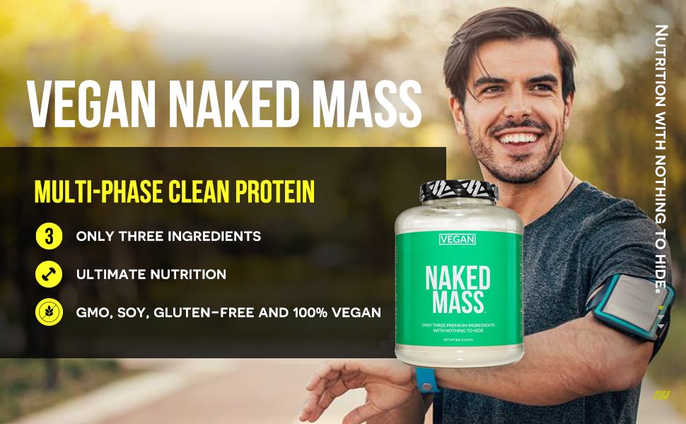 vegan mass gainer protein powder, vegan weight gainer protein powder, gluten free mass gainer