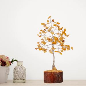 yellow aventurine tree meditation gifts chakra stones gemstones and crystals office decor for women