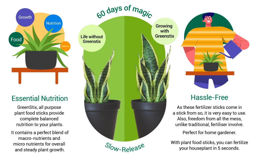Slow-release fertilizer, plant food sticks, green sticks , Fertiliser sticks