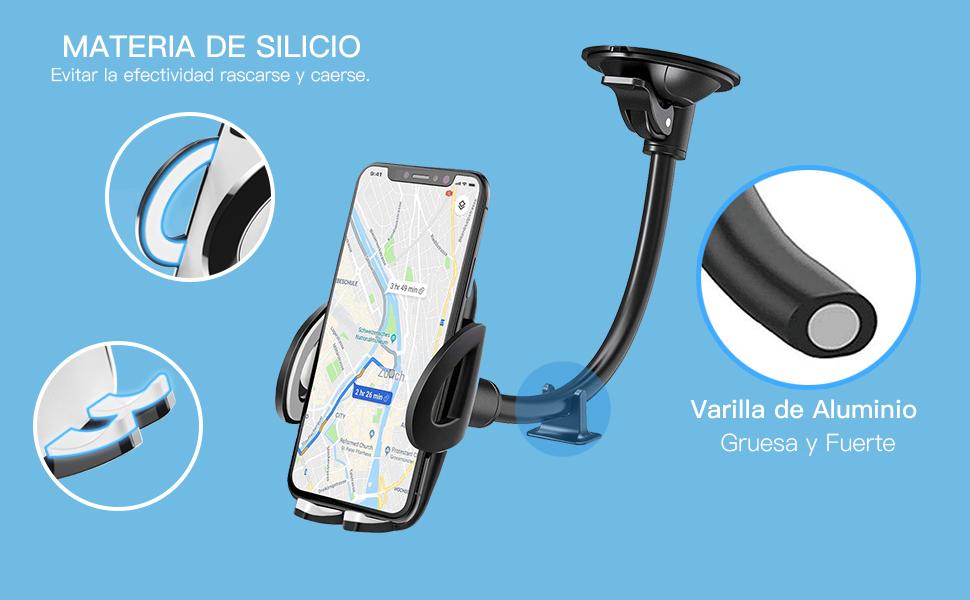 IZUKU Soporte Móvil Coche para Parabrisas [Garantía de por Vida] Porta Movil Coche para iPhone X / 8/7/6, Samsung S8 / S7, Huawei, Xiaomi, teléfono Inteligente y Dispositivos GPS: Amazon.es: Electrónica