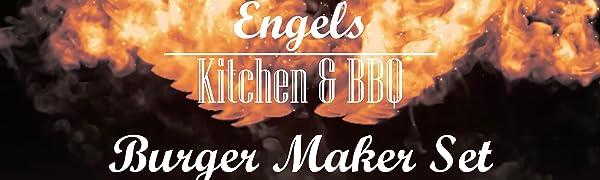 Engels in Flammen - Burger Maker Set