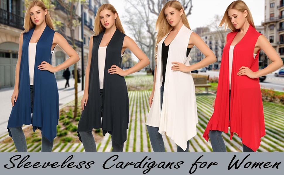 Sleeveless Cardigans for Women