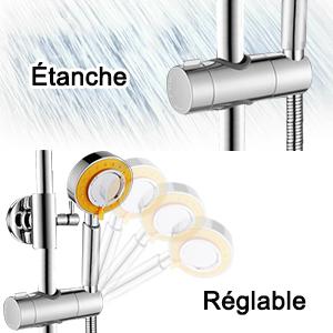 support pour douchette curseur pour barre de douche curseur de douche support de douche universel