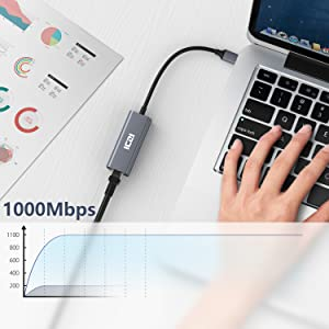 UGREEN Adattatore di Rete 1000Mbps Ethernet USB 3.0 a RJ45 Gigabit LAN per Nitendo Switch