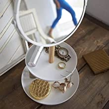 Hygge & Cwtch Tiered Jewelry Trays with Mirror