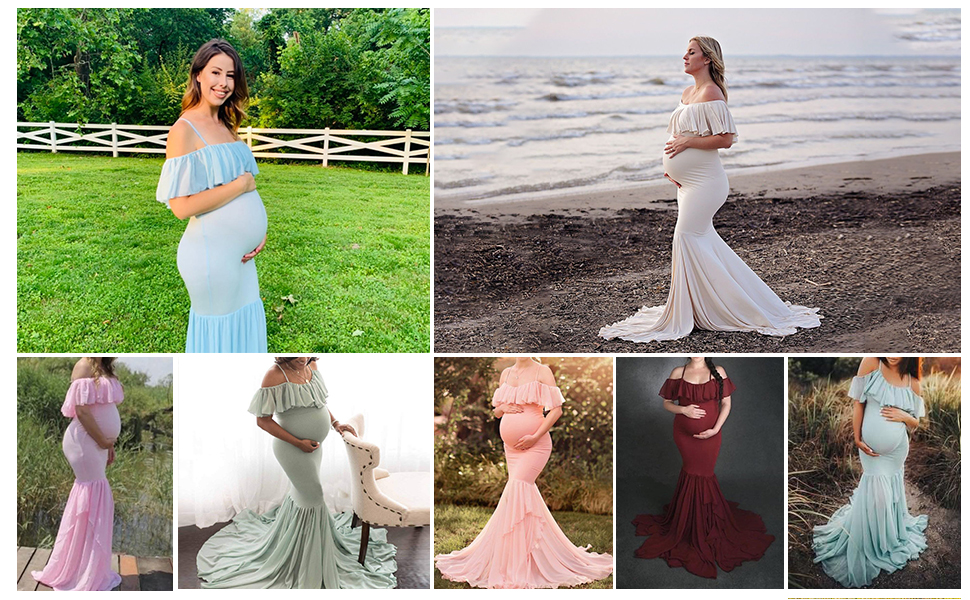fitted maternity gowns