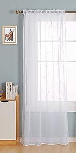 od pocket white sheer curtains for living room bedroom sheers voile