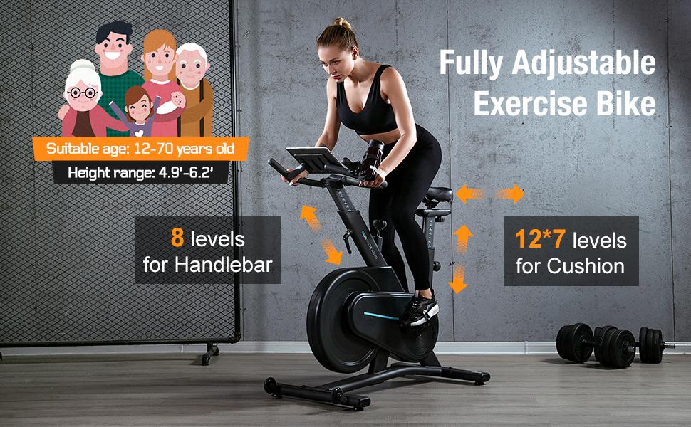 indoor bike fully adjustable