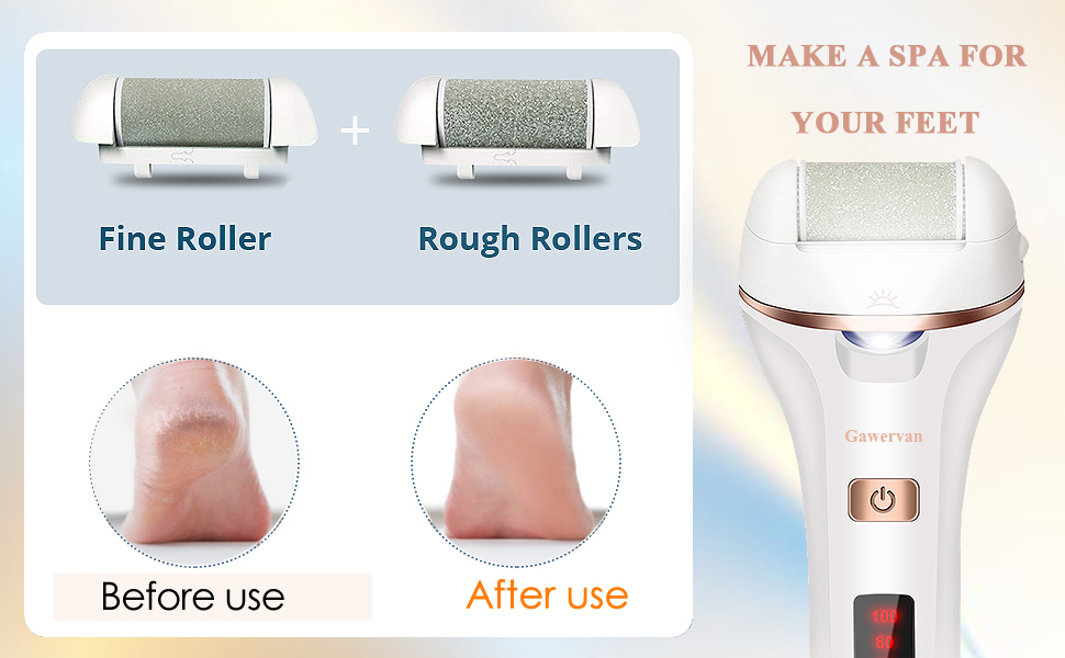 wet and dry electronic foot shaver callus eliminator