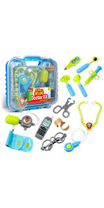 Kidzlane doctor kit with carrying case pretend doctor set for kids doctor dress up doctor toys 3+