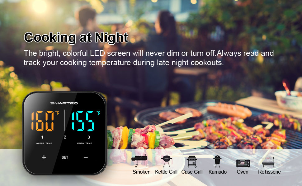 Digital wireless Bluetooth oven thermometer
