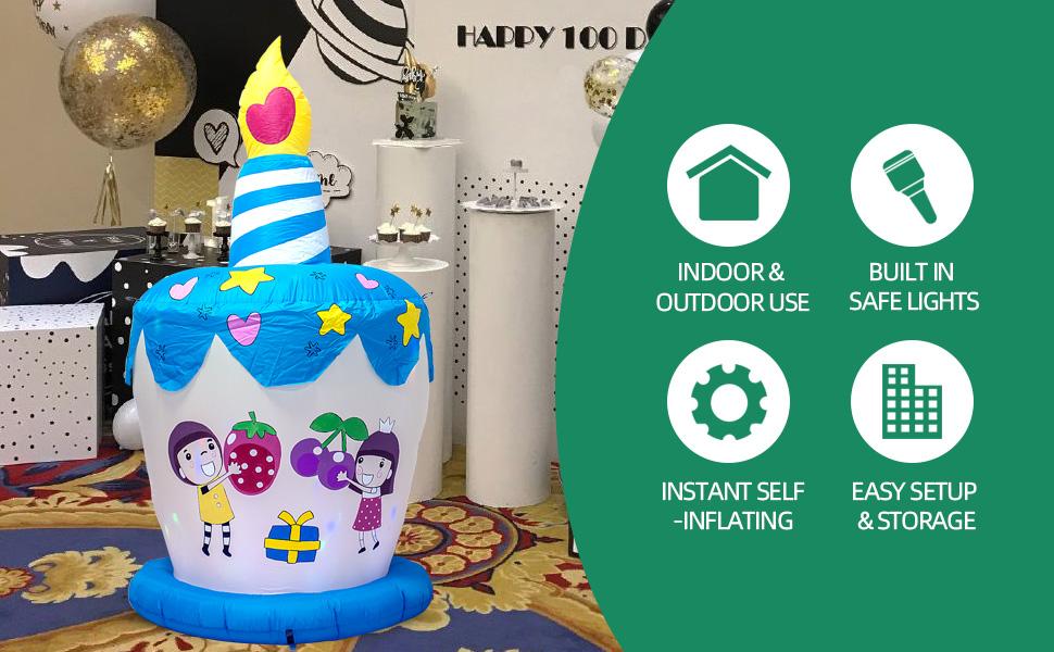 Birthday Cake inflatable B08NSL9Y9W