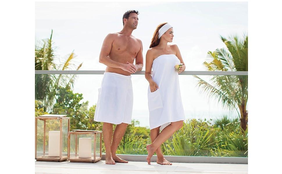 boca terry mens towel wrap spa gym cotton