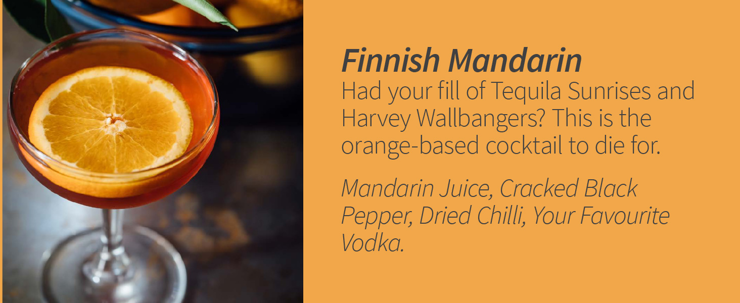 Finnish Mandarin Orange Pepper Chilli Cocktail