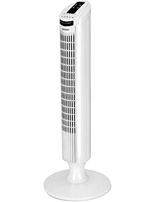 Deuba Ventilador de Torre Blanco con función Turbo y Mando a ...