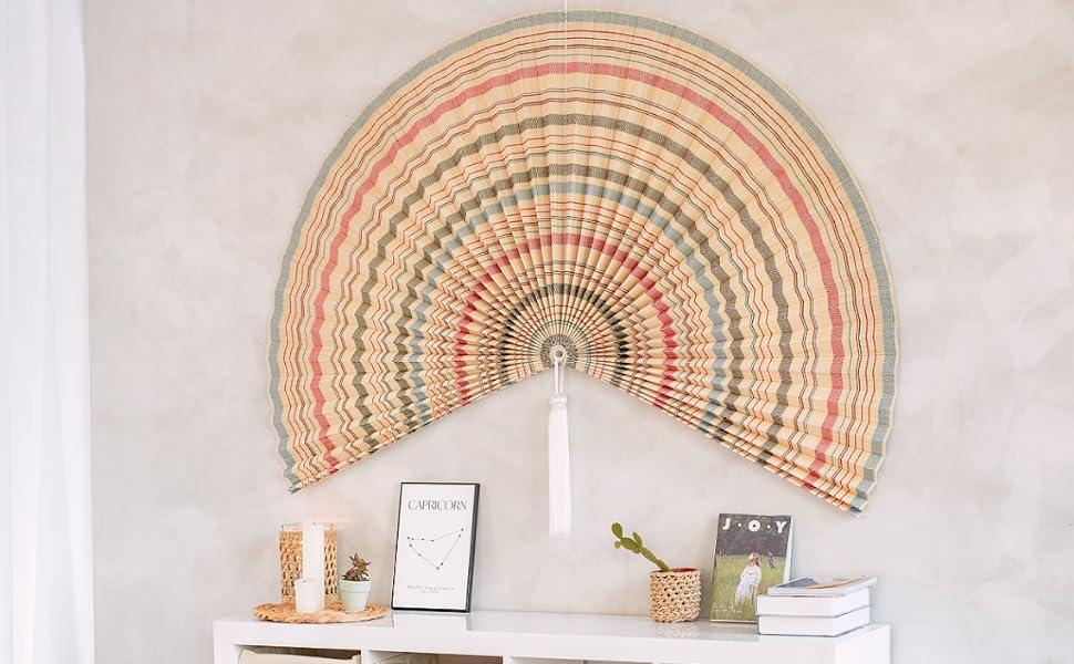 Oversize Folding Fan Wall