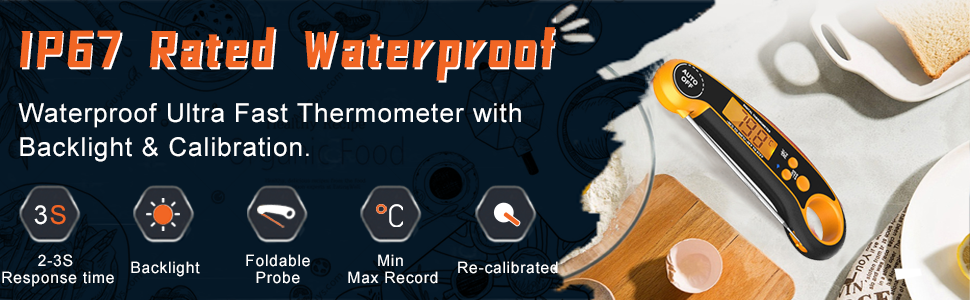 IP67 rated waterproof