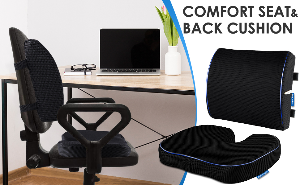 seat cushion lumbar pillow for office chair memory foam sitting pad back support cushion support