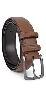 men genuine leather jeans belt brown