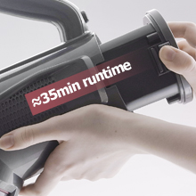 Roomie Tec Cordless Stick Vacuum Cleaner with removable battery for exchange and extended use time