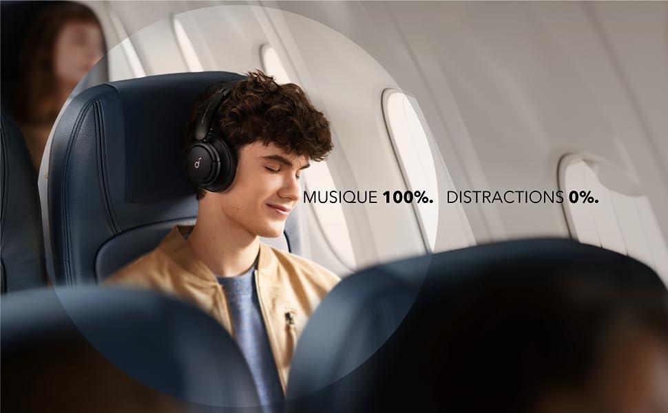 Casque Bluetooth Soundcore par Anker Life Q30 Réduction de Bruit Active Hybride à Multi-Mode