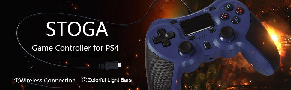 Mando Inalámbrico para PS4, STOGA Gamepad Wireless Bluetooth Controlador con Vibración Doble Compatible con Playstation 4: Amazon.es: Videojuegos