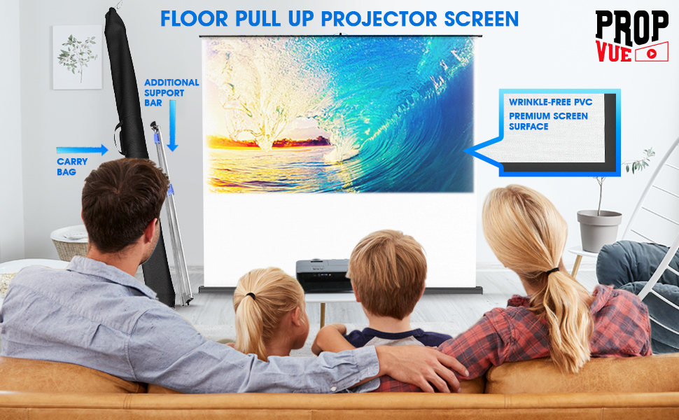 Manual Pull Up Portable Projector Screen
