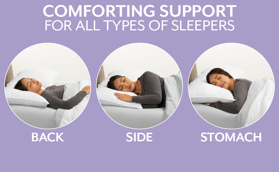 Comforting support for all types of sleepers