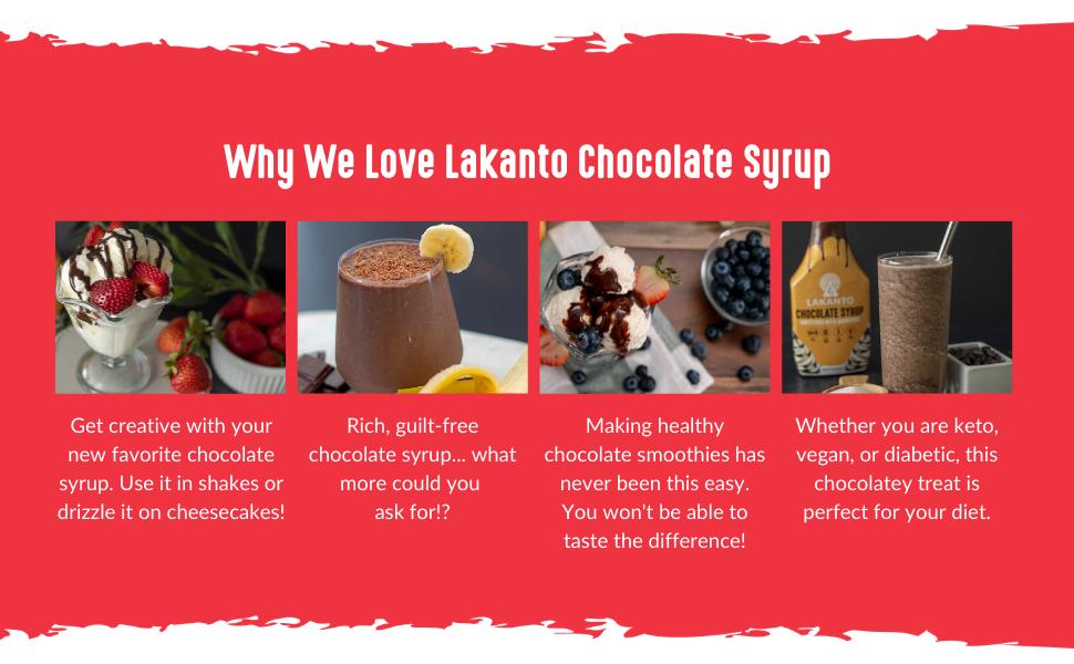 chocolate syrup, sugar-free dessert, keto