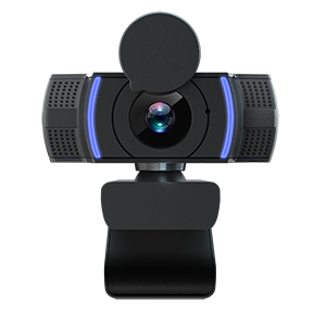 AUTOFOCUS WEBCAM WITH MICROPHONE, HD 1080P COMPUTER CAMERA DISTORTIONLESS WITH PRIVACY COVER & TRIPOD, BUSINESS WEB CAM 30FPS FOR LAPTOP/DESKTOP/PC, FITS SKYPE ZOOM CONFERENCE/GAMING/STREAMING