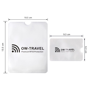 RFID card protector sleeves and Passport RFID Blocker Sleeves Dimensions. Contactless card protector