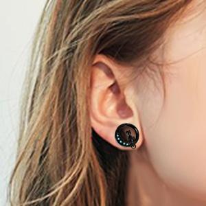 cat earrings gauges