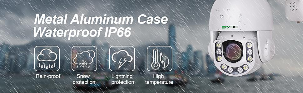 IP66 Weatherproof metal outdoor wifi ptz camera