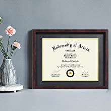 brown diploma frame