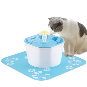KOOPAO Pet Cat Dispensador de Fuente de Agua,1.6L Mascotas Filtros de reemplazo de Fuente automáticos Ultra silencioso Saludable e higiénico para ...