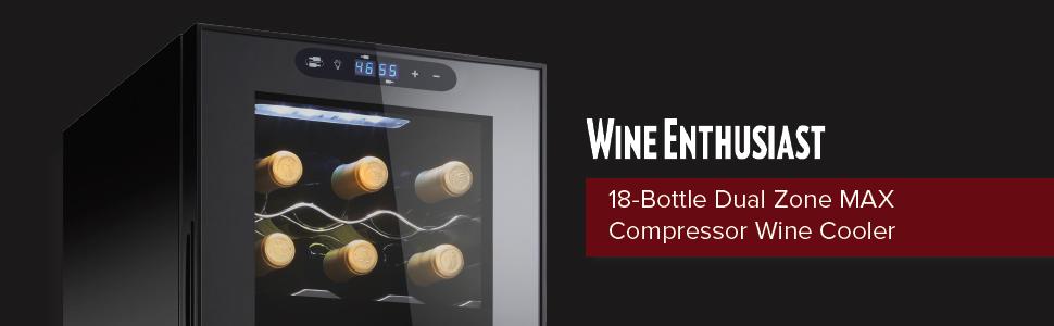 wine cooler, compressor cooler, wine accessories, dual zone wine cooler, wine enthusiast, fridge