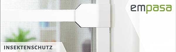 empasa Klemm-Lamellenvorhang COMFORT Fliegengitter Insektenschutzvorhang verschiedene Gr/ö/ßen als Selbstbausatz und auf Ma/ß geschnitten