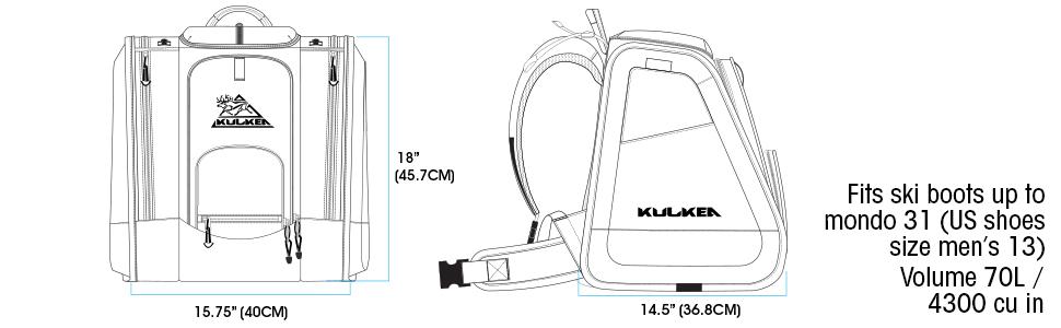 ski backpack boot trekker gear