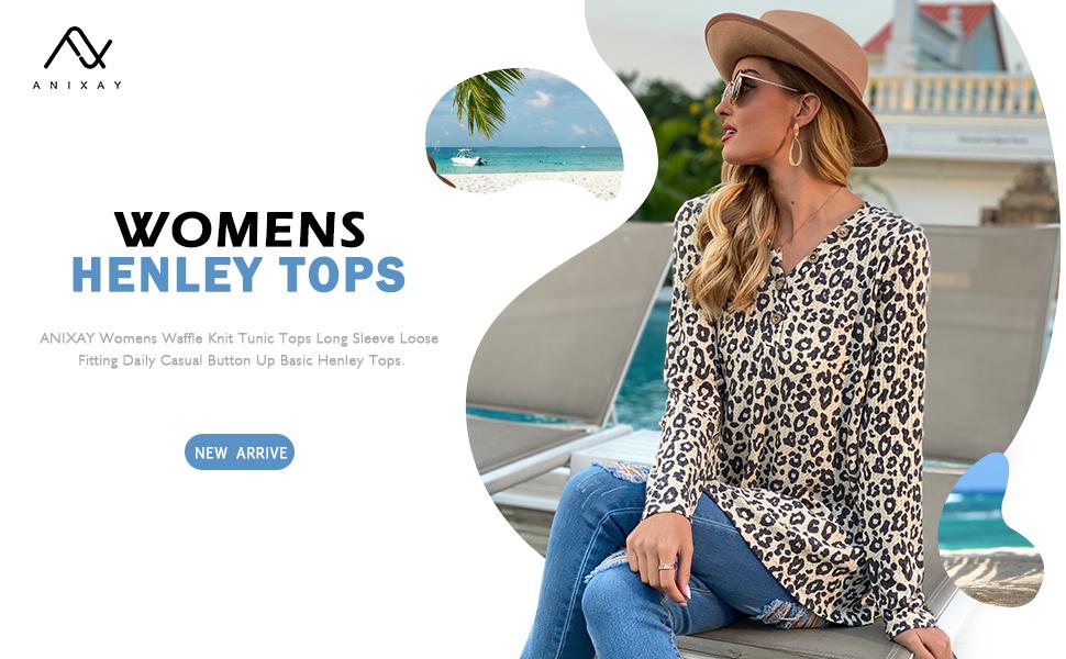 womens henley tops