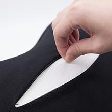 white textile fabric