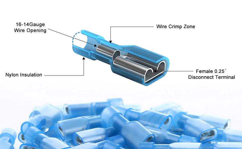 SIM/&NAT Male Female Bullet Quick Splice Wire Terminals 22-16 Gauge SIM/&NAT Direct 100pcs Bullet Wire Crimp Connectors